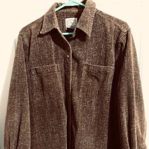 Men's resist plus long sleeve cotton shirt.